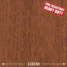 Sticky Laminate Floor Walnut Wood Effect Heavy Duty Fire Retardant Self Adhesive Sticky