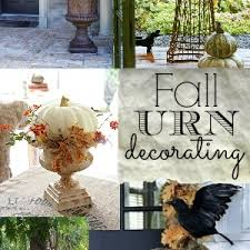 Front Porch Fall Decorating Ideas - decorating with urns the fall edition fox hollow cottage