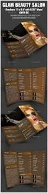 glam beauty salon trifold brochure indesign corporate brochure