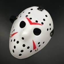 Halloween Costumes Jason Voorhees Friday 13th Jason Voorhees Mask Halloween Costume Prop Red
