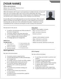 office administrator resumes for ms word resume templates