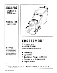 craftsman chipper 987 799601 user guide manualsonline com