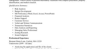 Sample Underwriter Resume by Mortgage Underwriter Resume Sample Insurance Underwriter Resume