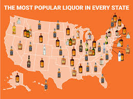 A Picture Of A Map Of The United States by The Most Popular Liquor In Every State Business Insider