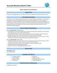 Sample Resume For Bankers by 28 Sample Bank Teller Resume Bank Teller Resume Examples