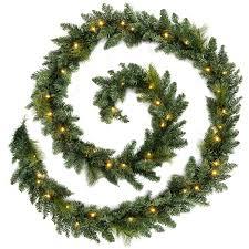 werchristmas pre lit garland illuminated with 52 warm led