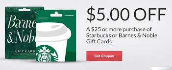 Barnes Nob Save 5 On A 25 Barnes U0026 Noble Or Starbucks Gift Card At Rite Aid