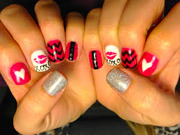 more valentine u0027s day nail art chic nail styles