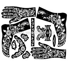 reusable airbrush henna mehndi design stencils for in