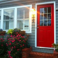 grey exterior red door google search ideas for the house