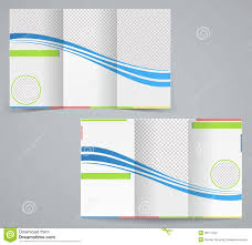 brochure 4 fold template tri fold business brochure template stock vector illustration of