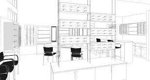 floor planning custom design architectural services for optical stores