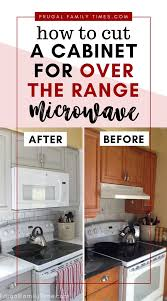 how to trim the bottom of a cabinet how to cut a cabinet for the range microwave our