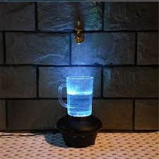 indoor fountain with light 2017 novelty magic faucet fountain color change led light water