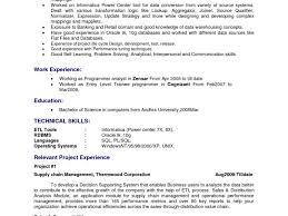 etl developer resume informatica experience resume informatica resume sle