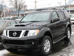 black nissan pathfinder pathfinder hood scoop hs002 by mrhoodscoop