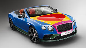 blue bentley 2016 2016 bentley continental gt v8 s convertible art car by sir peter