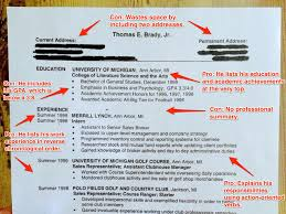 Resume College Degree Tom Brady Resume Advice Business Insider