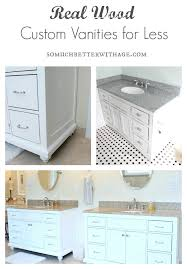 Custom Vanity Bathroom by Real Wood Custom Vanities For Less So Much Better With Age