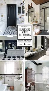 the classic look black and white bathroom decor ideas home tree