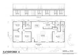 Steel Homes Floor Plans Simple 4 Bedroom Floor Plans Sanford 4 Met Kit Homes 4