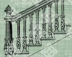 Handrail Banister Stair Stencils Etsy
