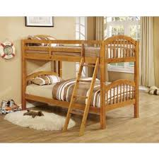 arched twin honey oak finish bunk bed free shipping today