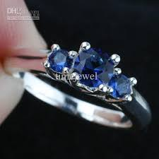 engagement rings with blue stones 2017 three blue sapphire wedding 925 sterling silver