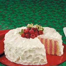 cake ribbon raspberry ribbon cake recipe taste of home