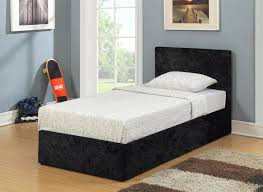 Single Ottoman Storage Bed by Birlea Berlin Black Crushed Velvet Ottoman Storage Bed Single 3ft