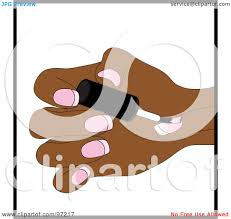 royalty free rf clipart illustration of a black woman painting