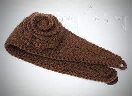crochet ear warmer headband knit ear warmer pattern with flower crochet ashlee