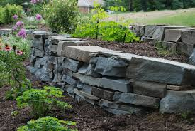 Stone For Garden Walls by Retaining Walls In Chester County Naturescapes Landscaping Of Paoli