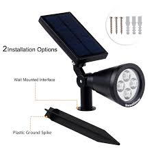 Warm Solar Lights by Innogear Solar Lights Spotlight Warm White Light Outdoor
