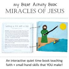 felt bible activity quiet time book miracles of jesus catholic