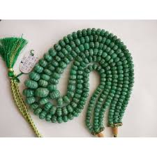 emerald gemstone necklace images Natural emerald gemstone melon cut melon roundel beads necklace jpg
