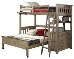 crosspointe twin size storage loft bed with full size bottom bed