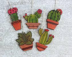 cactus ornament etsy