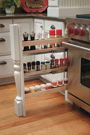column spice cabinet pull out with split leg omega