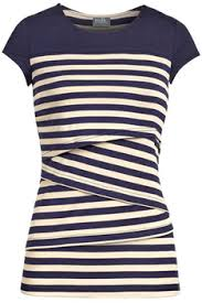 nursing tops striped solid yoke nursing top in navy milk nursingwear
