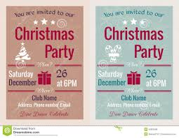 vintage christmas party invitation stock vector image 43820288