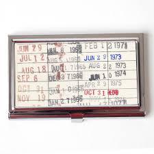 Vintage Business Card Case Vintage Library Checkout Card Business Card Case Business Card Holde
