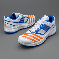 adidas howzat ar mens shoes white bright orange blue