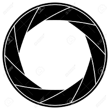 black and white illustration of shutter frame royalty free