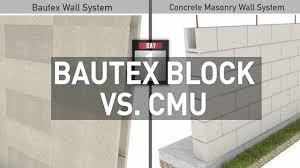 bautex block versus concrete masonry cmu construction youtube