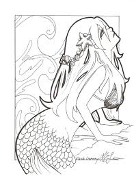 mermaid cartoon coloring pages coloringstar images color
