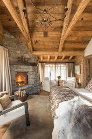 chambre à coucher rustique l esprit montagne reflété dans une chambre rustique cabin logs
