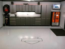 inside garage ideas modern minimalist silver cabinet under