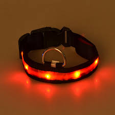 collar light for small dogs g05 new design pet led collar nylon luminous puppy small dogs cats