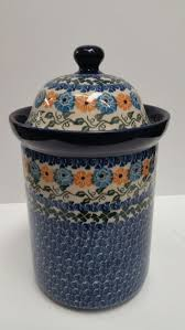 cobalt blue kitchen canisters 162 best polish pottery jars and containers images on pinterest
